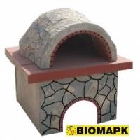 Φούρνος Πέτρα 130x130εκ. Επένδυση Πέτρας Καρύστου